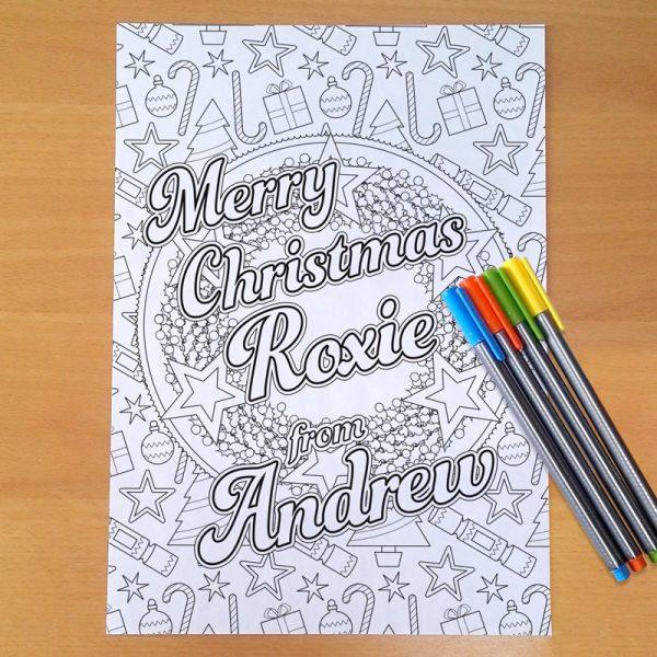 Christmas colouring