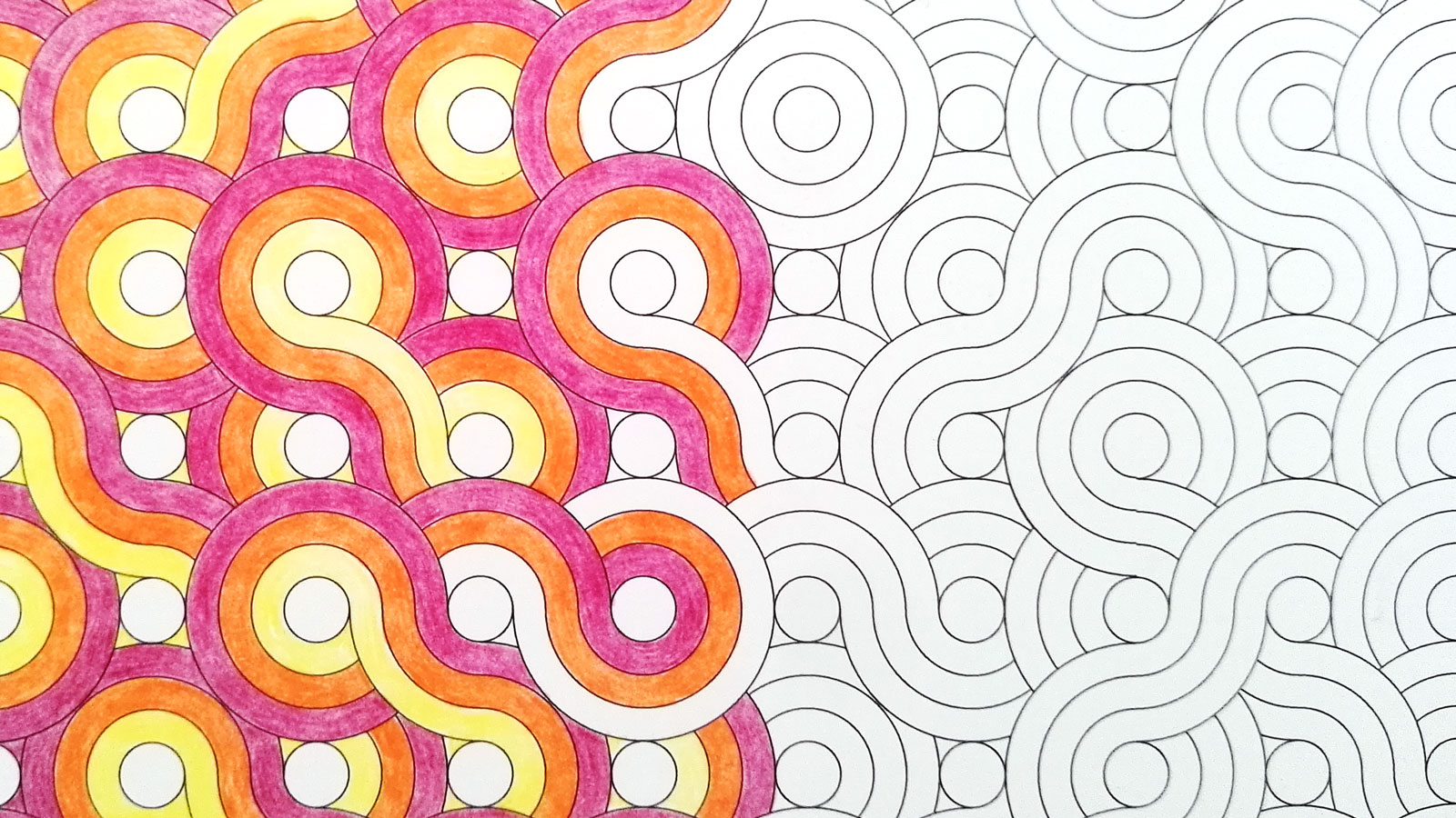 Patterns being coloured