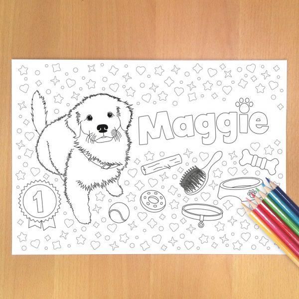 Puppy portrait example